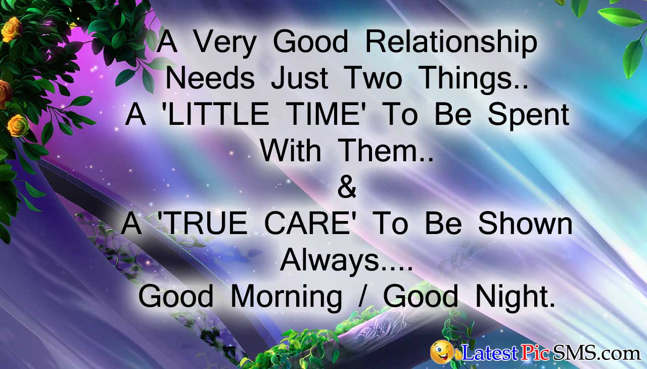 good mornig night sms hindi - SMS of The Day in English with Pictures for Whatsapp & Facebook