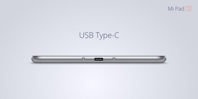 USB Type-C no Mi Pad 2