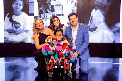 Eliana, Maisa Silva, Celso Portiolli e Luara (Foto: Gabriel Cardoso)