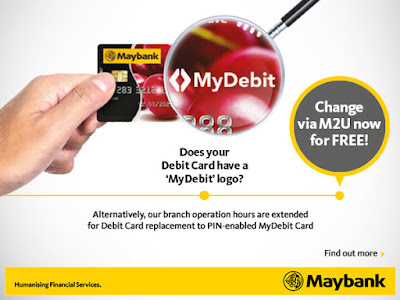Free Maybank MyDebit Card Replacement Delivery