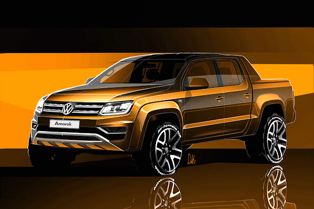 Amarok pick-up given the latest Volkswagen design