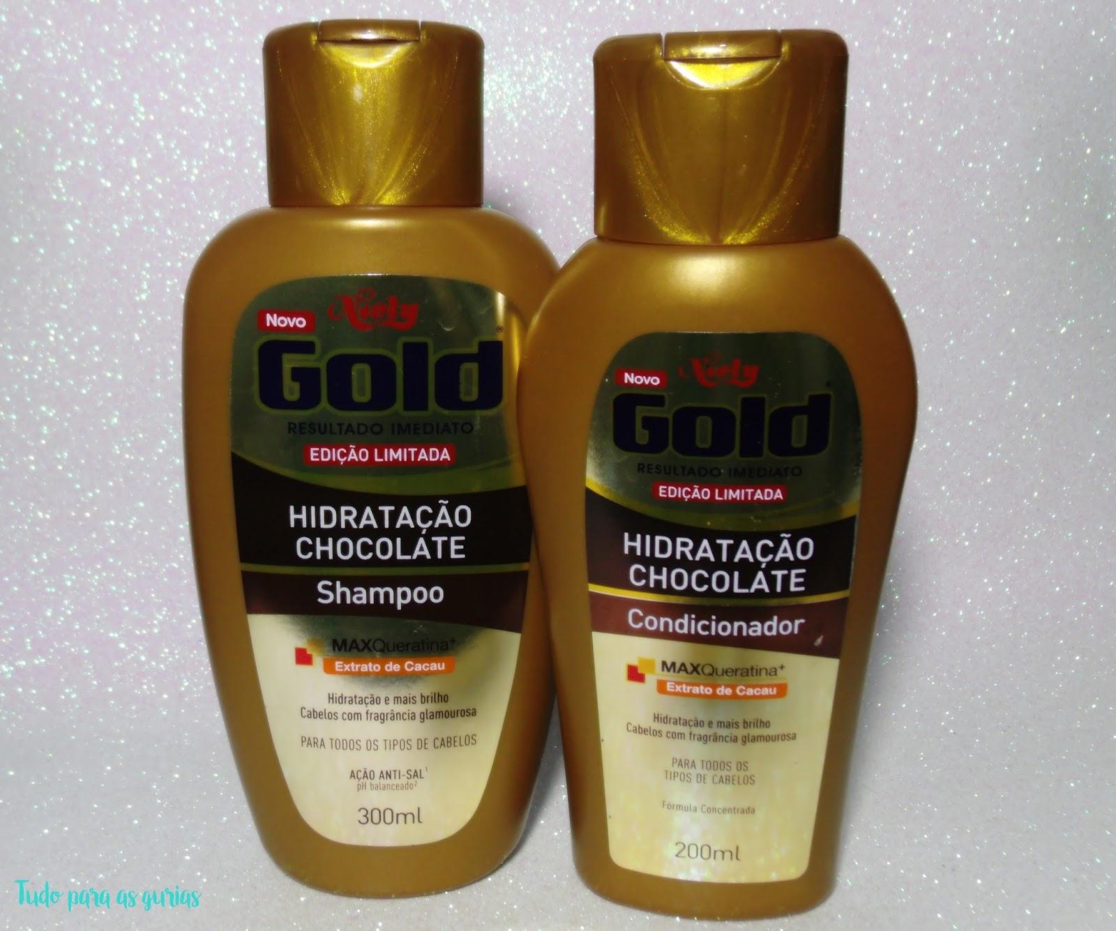 Resenha: Shampoo e Condicionador da linha Chocolate da Niely Gold.