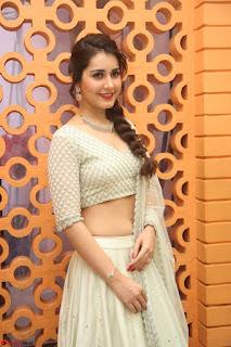 Raashi Khanan looks stunning in Crop Top Deep neck Choli Ghagra Transparent Chunni WOW ~  Exclusive Celebrities Galleries 051.JPG