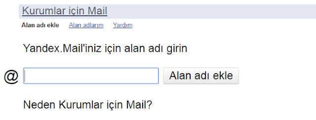 Ad Soyad Mail Adresi Almak (Yandex)