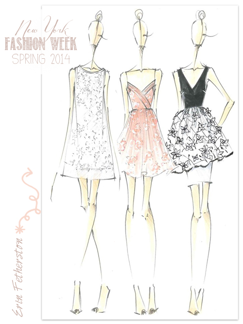 Fabulous Doodles Fashion Illustration Blog By Brooke Hagel Designer Sketches From Ny Fashion Week Spring 2014