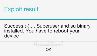 Root anda sudah berhasil