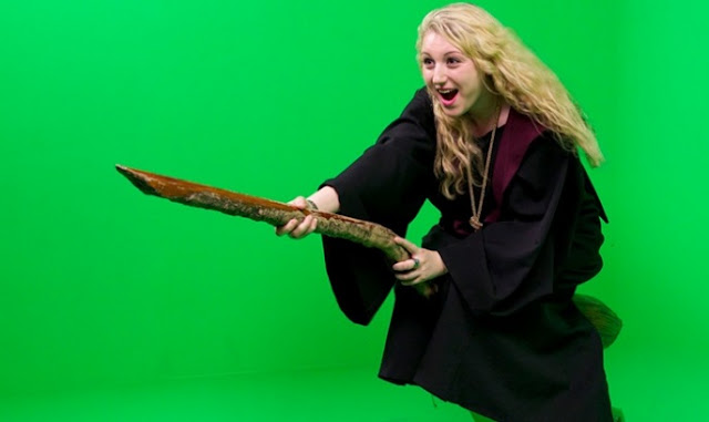 harry potter broom stick ride