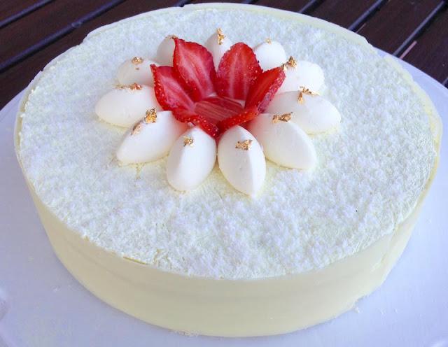 torta%2Bnonno - Cheesecake panna e fragole