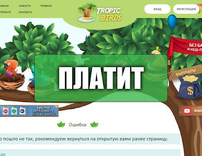 Скриншоты выплат с игры tropic-birds.biz
