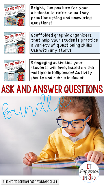 Asking and answering questions is my favorite skill to teach! Here are some fun activities that help me when teaching about this important topic.