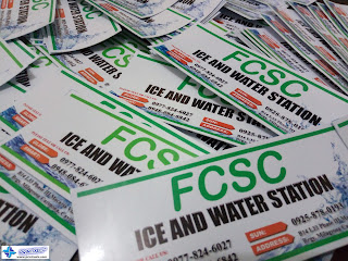 Waterproof Vinyl Label Stickers - FCSC Ice and Water Station