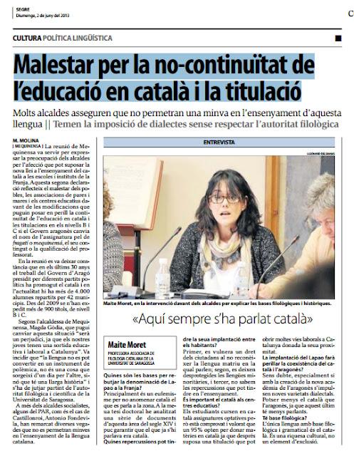Maite Moret,aquí sempre s'ha parlat català