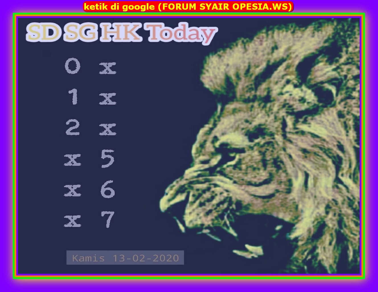 Kode syair Hongkong Kamis 13 Februari 2020 72