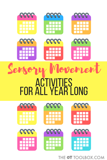Use these sensory movement ideas for kids to add movement and play into activities for kids all year long! They are perfect for play and occupational therapy activities.