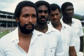 The much feared West Indian Pace Quartet: Michael Holding, Andy Roberts, Colin Croft and Joel Garner,  Directed by Stevan Riley, Award winning English Documentary