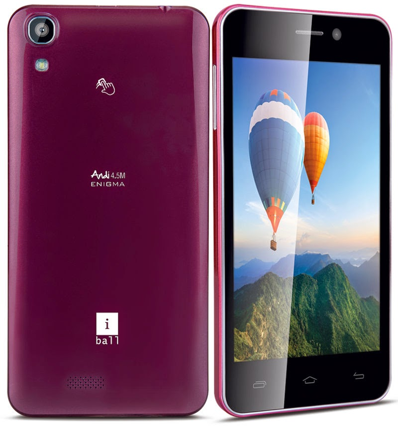 iBall Andi 4.5M Enigma comes with Android KitKat 13 MP camera @ Rs. 8,499 | MobileTalkNews