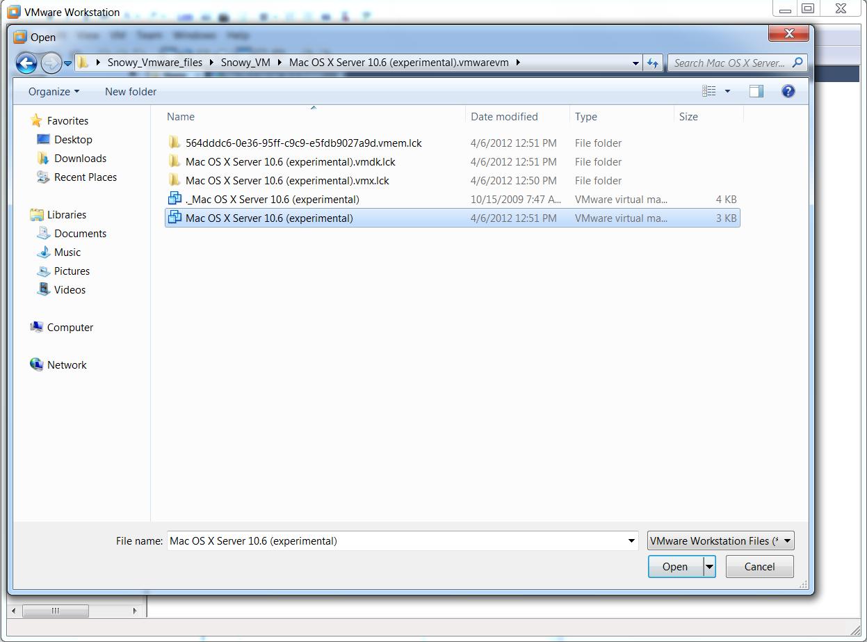 The Root UID: Installing MacOS SnowLeopard on Windows 7 using VMware
