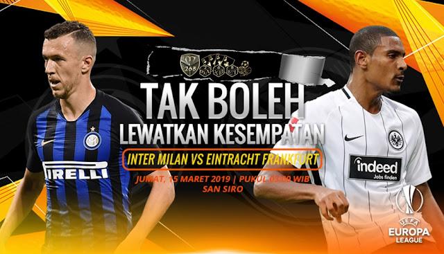 Prediksi Inter Milan Vs Eintracht Frankfurt, Jumat 15 Maret 2019 Pukul 03.00 WIB