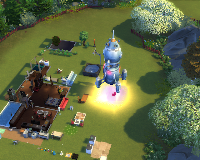 The sims 4 | House Rocket Launch