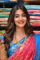 Puja Hegde looks stunning in Red saree at launch of Anutex shopping mall ~ Celebrities Galleries 027.JPG