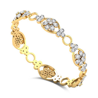 Floral Diamond Bangle
