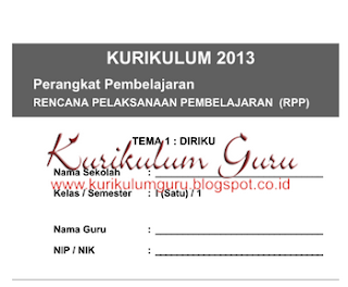 Download Kumpulan RPP Kelas 1, 2, 3, 4, 5, 6 Kurikulum 2013 Semester 1 dan 2 Lengkap