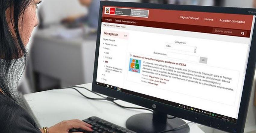 DRELM amplía plazo de inscripción del curso virtual «Gestores de pequeños negocios solidarios» para docentes de CEBA - www.drelm.gob.pe