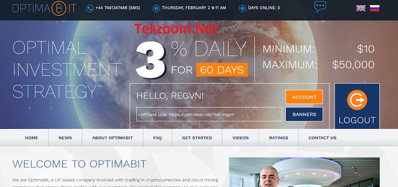 [SCAM] Review OptimaBit - Lãi 3% hằng ngày cho 60 ngày - Đầu tư tối thiểu 10$ - Thanh toán Manual
