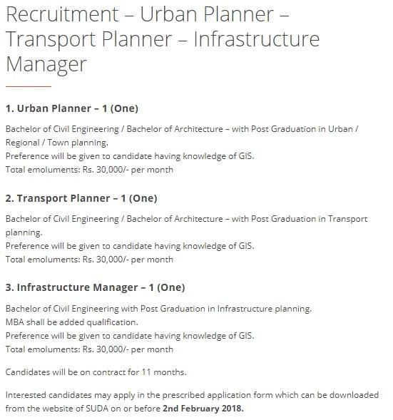 kawant express  suda urban planner  transport planner  u0026 infrastructure manager recruitment 2018
