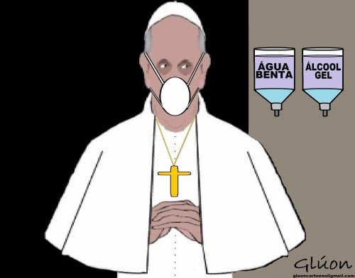Papa Francisco com medo de pegar o coranavírus