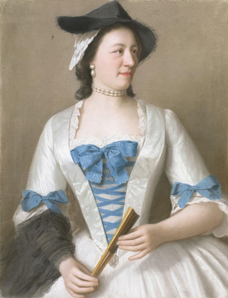 Jeanne-Elisabeth de Sellon, ca. 1746, pastel on parchment