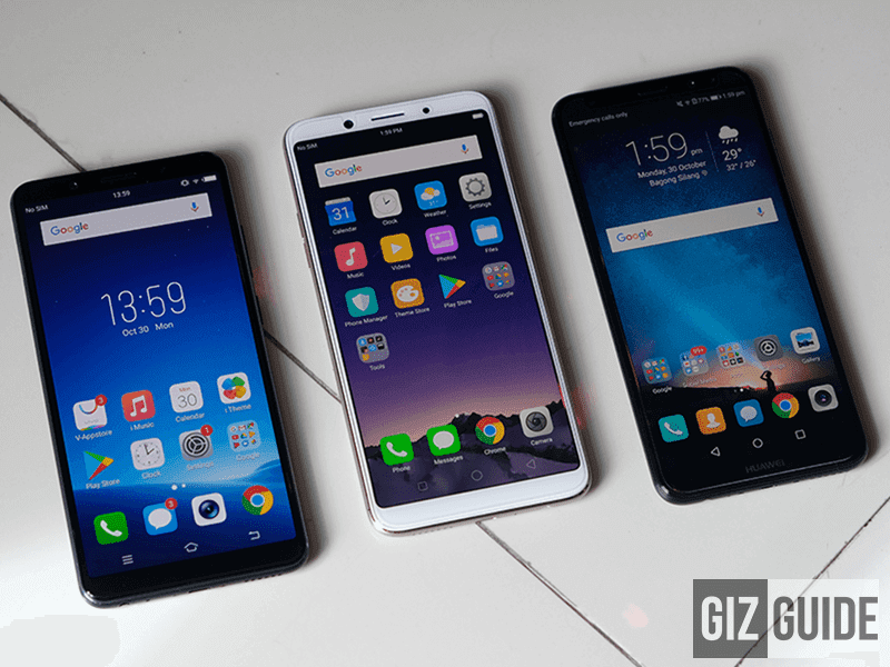 Three of the best selfie phones in the midrange department