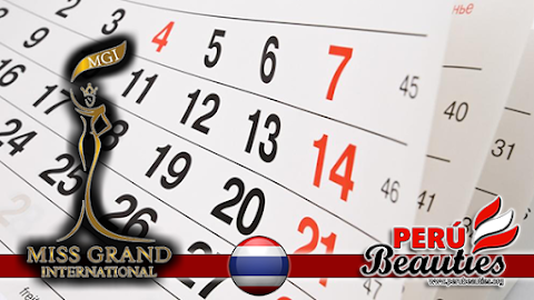 Calendario de actividades - Miss Grand International 2015