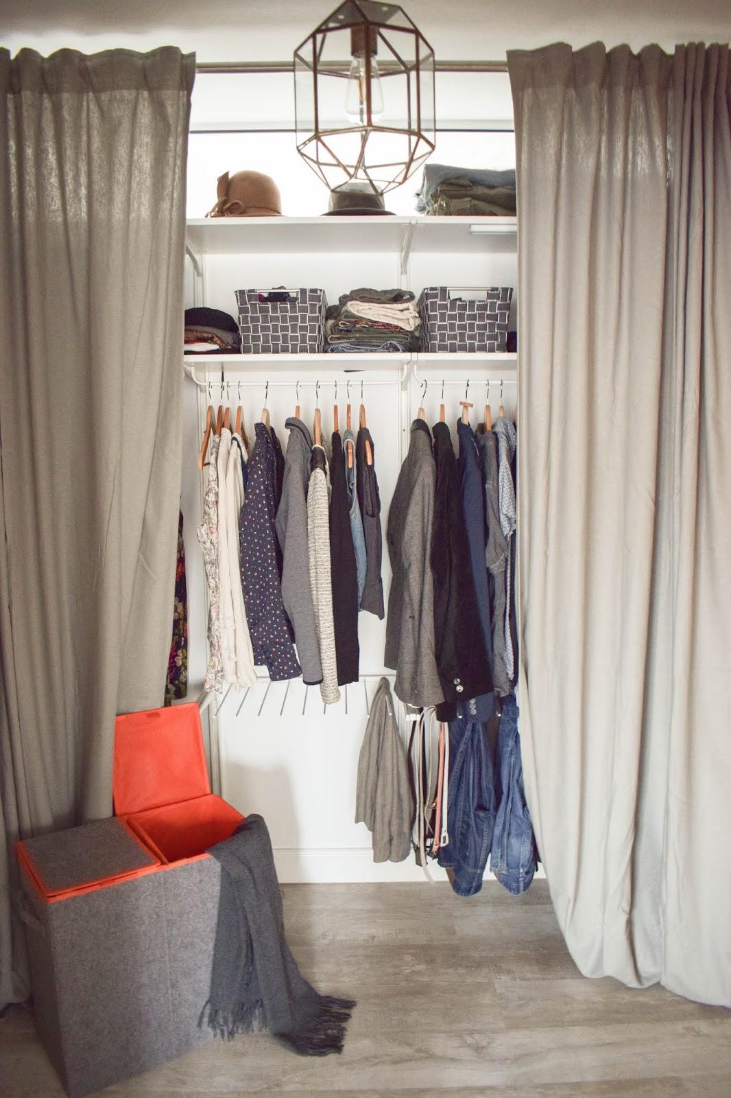 Flexible Aufbewahrung für Kleider mit Wenko Wäsche praktisch verstaut Kleiderschrank  Wäschesammler