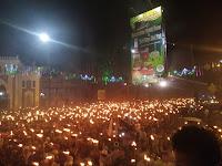 Ribuan Umat Islam Bawa Obor Keliling Kota Medan