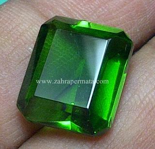 Batu Permata Green Tektite + Memo - ZP 538