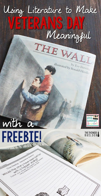 "Check out how to use Eve Bunting's ""The Wall"" to dig into Veterans Day with your students."