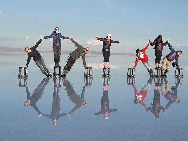 Espejo en el Salar de Uyuni  Blog de viajes por el mundo