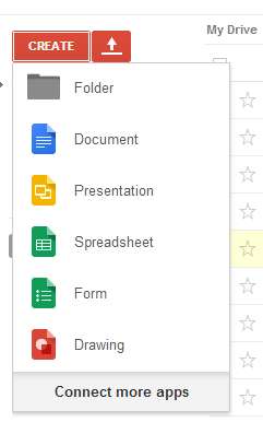Create Form Google Drive