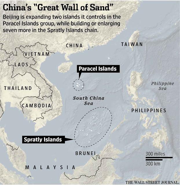 China não acata tribunal internacional sobre ilhas do Mar da China que não lhe pertencem