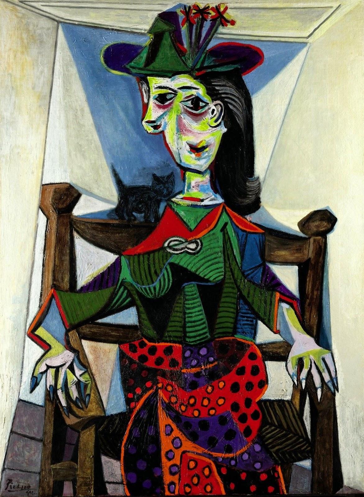 Dora Maar com Gato - Picasso e suas pinturas ~ O maior expoente da Arte Moderna