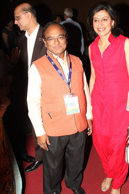 Mukesh Gupta with Anjum Chopra