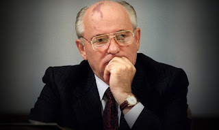 picture of thoughtful Mikhail Gorbachev