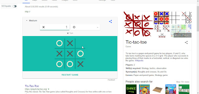 Tic Tac Toe Google Tricks