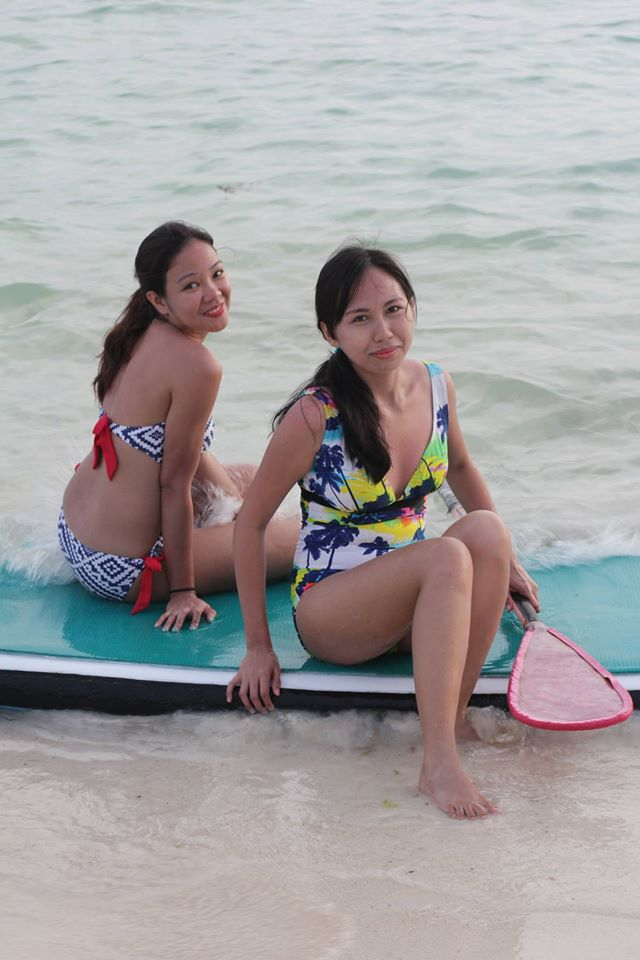 a pose before we take on adventure to do stand-up paddle