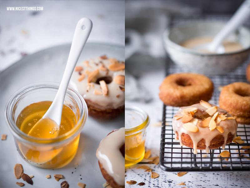 Honig Donuts mit Mandeln selber machen Rezept