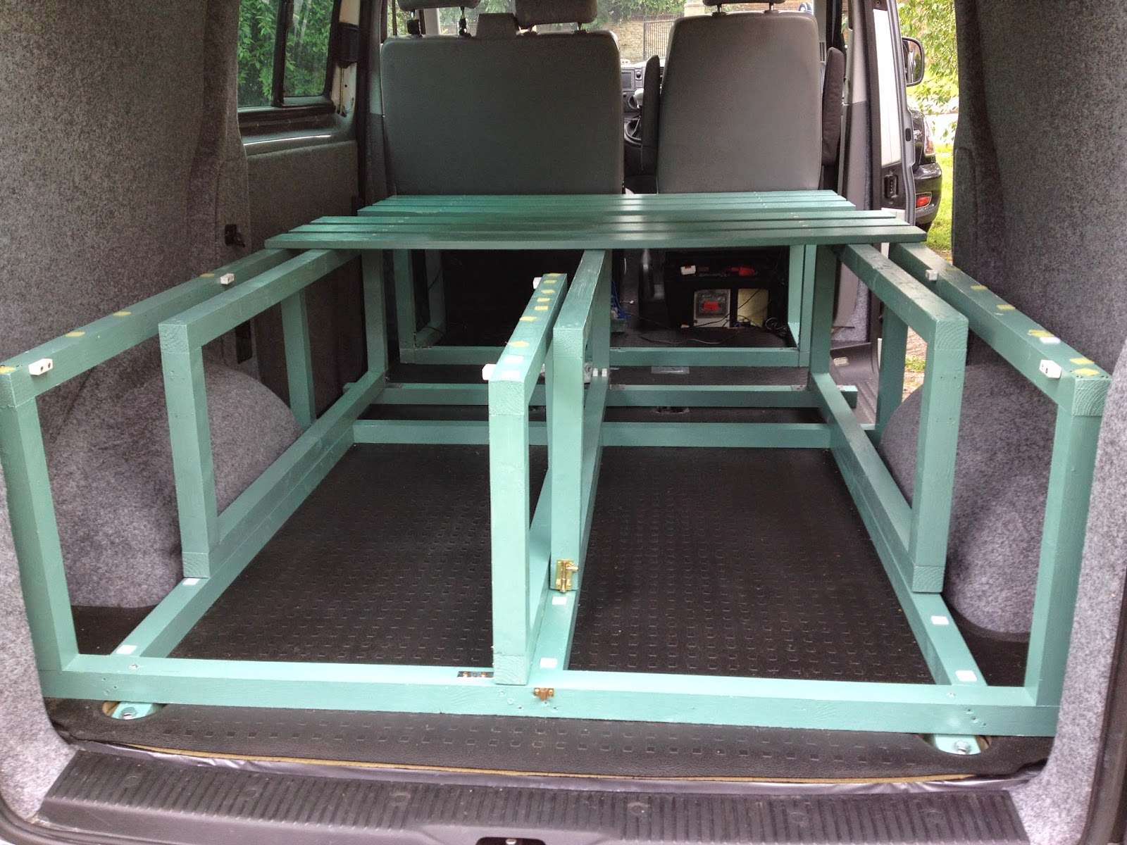 Bed Frame Construction Vw T5 Van Conversion