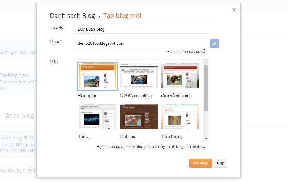 Hướng Dẫn Tạo Blogspot, Cách Tạo Và Tối Ưu Hóa Cho SEO Blog