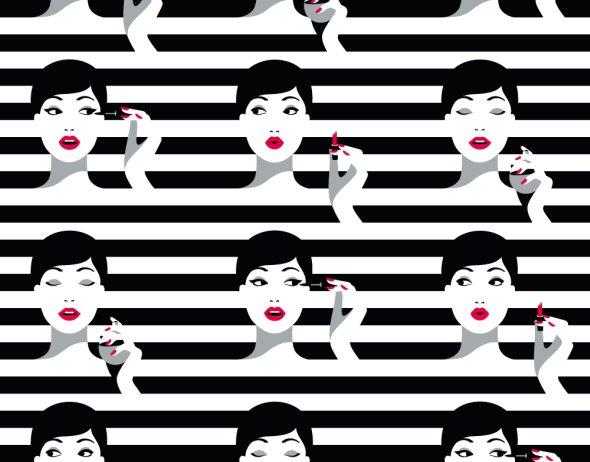 Malika Favre ilustrações fashion minimalistas coloridas pop art espaço negativo