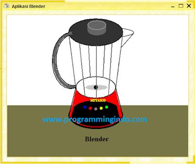 Cara Membuat Gambar Blender Keren dengan Menggunakan Java Netbeans